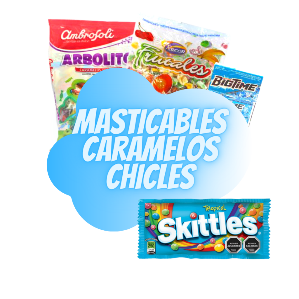 masticables, caramelos, chicles